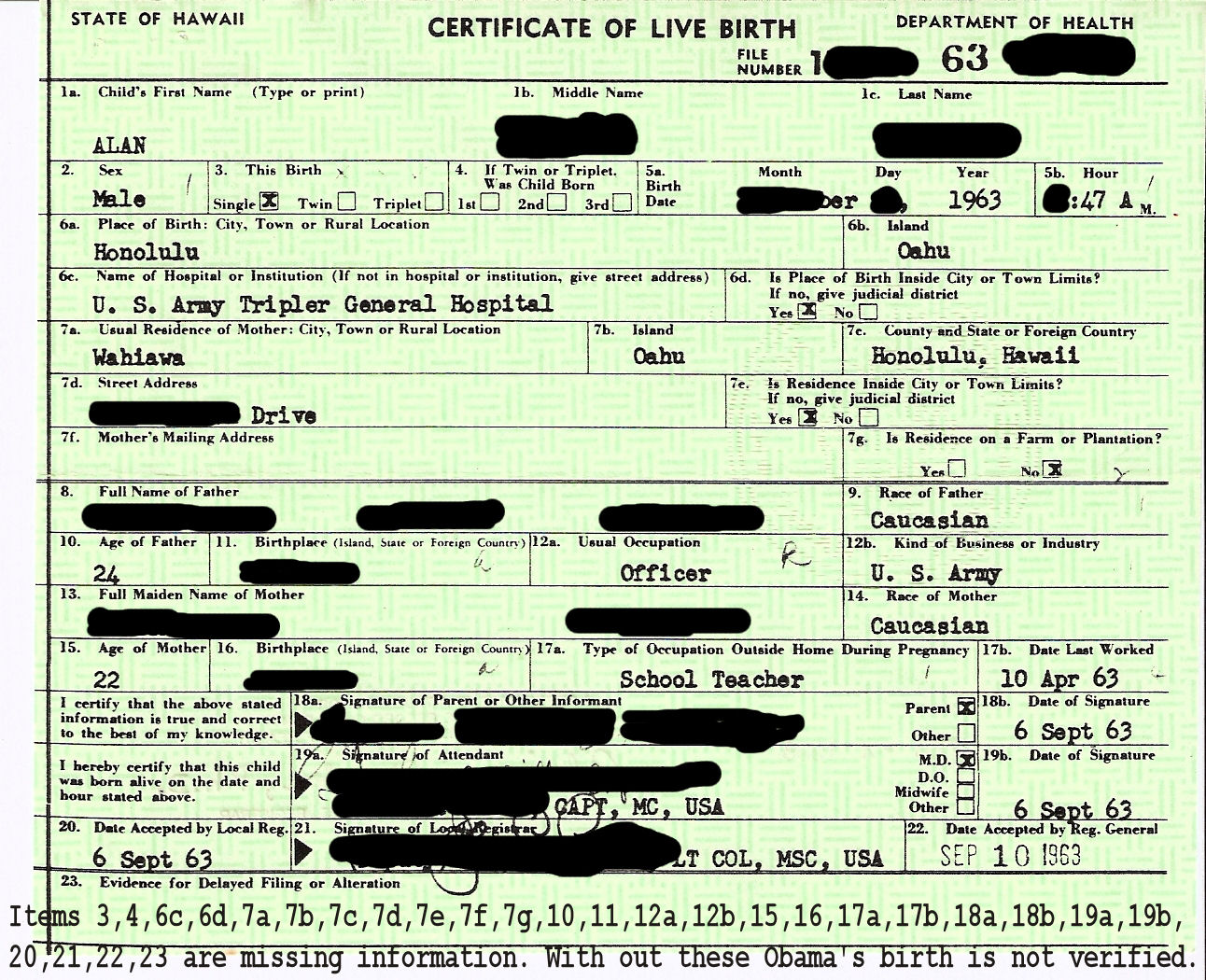 Hawaiian birth certificates native and natural born citizenship hawaiian birth certificate 1963 1betcityfo Image collections